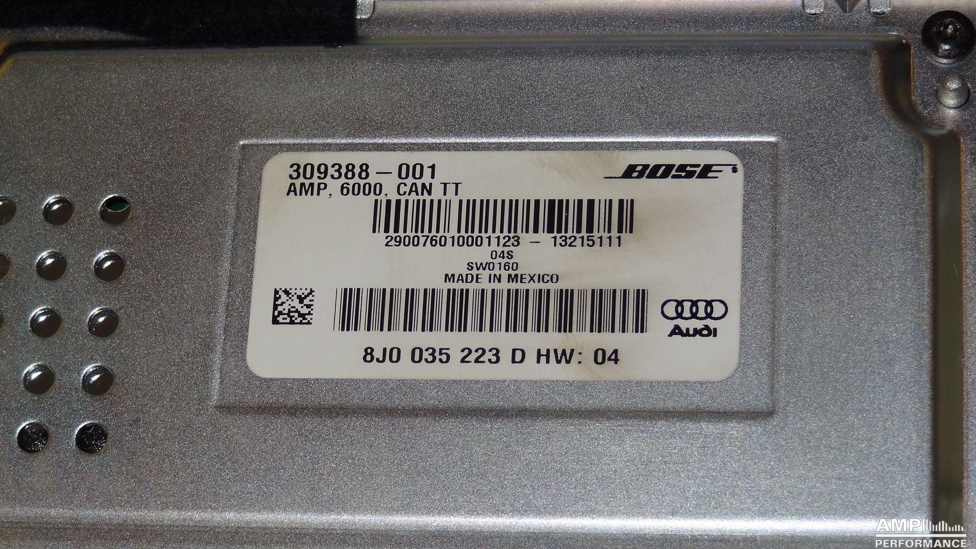 Audi TT 8J Bose Verstärker - AMP-Performance