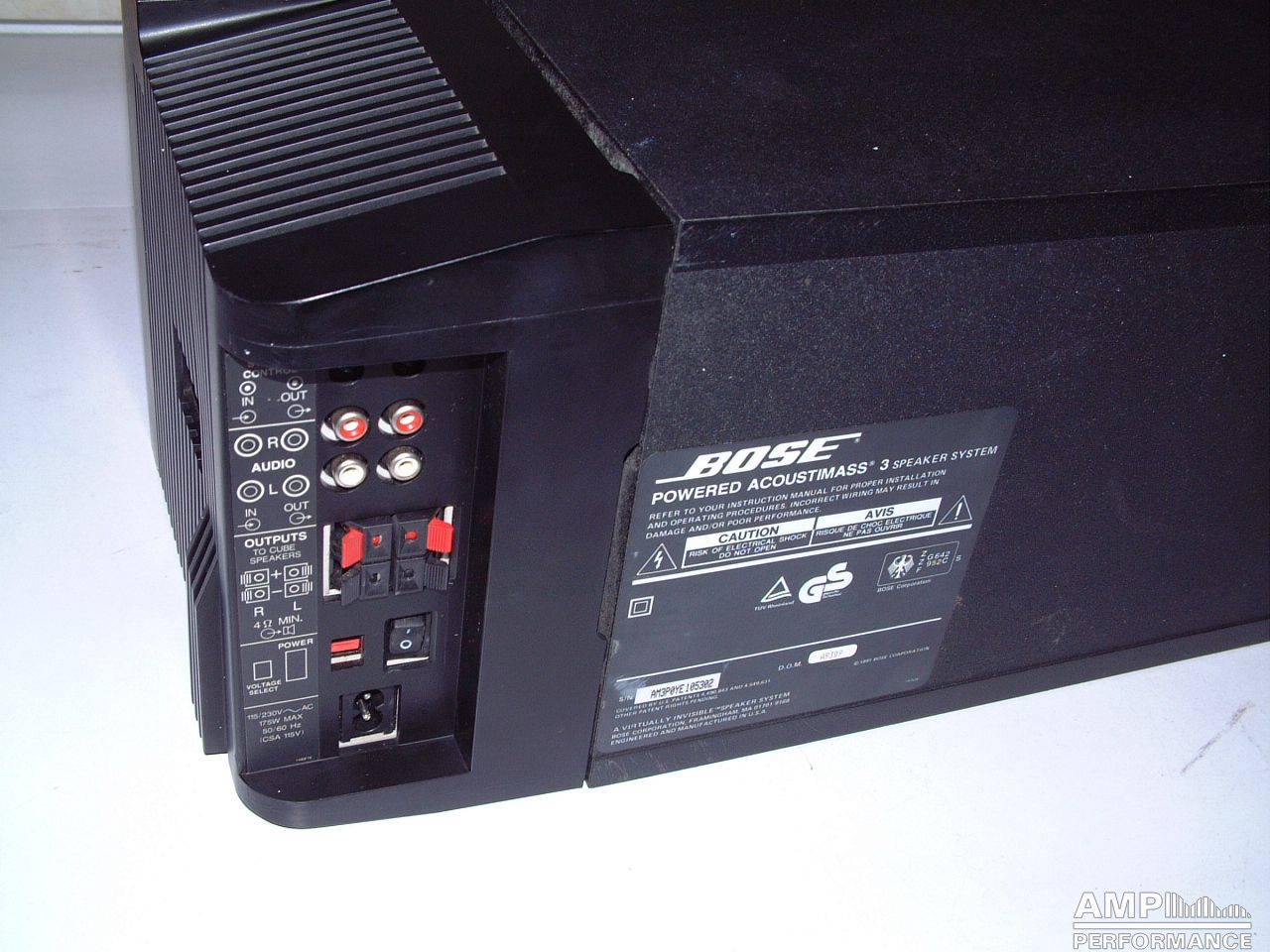 Bose Powered Acoustimass 3 Serie 2 Amp Performance